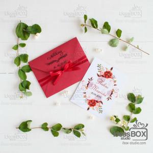 Запрошення в конвертику (цупкий картон)